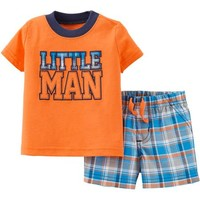 Child of Mine by Carter's Newborn Boy Tee and Short Outfit Set - Walmart.com