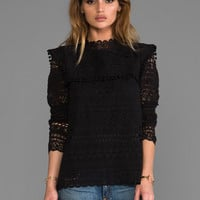 Maison Scotch Lace Long Sleeve Top in Black from REVOLVEclothing.com