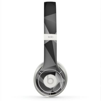 The Vector Black & White Abstract Connect Pattern Skin for the Beats by Dre Solo 2 Headphones