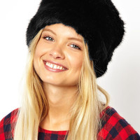 Faux Fur Flat Top Leopard Print Russian Cossack Hat