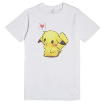 LovePokemon-Unisex White T-Shirt