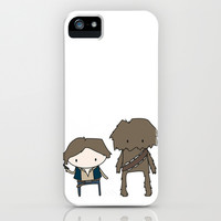 Han Solo & Chewie iPhone & iPod Case by Justin Temporal