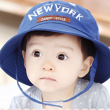 So Cute Baby Blue Fisherman Cap Comfortable Hot Summer Gift 46