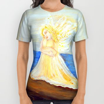 Invite your Angel | Angels are here All Over Print Shirt by Azima