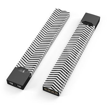 Skin Decal Kit for the Pax JUUL - Black and Gray Watercolor Chevron