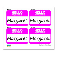 Margaret Hello My Name Is - Sheet of 4 Stickers
