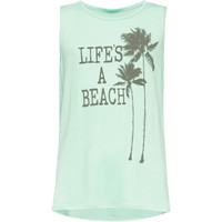 Full Tilt Life's A Beach Girls Muscle Tank Mint  In Sizes