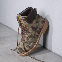 Hot Deal On Sale England Style Dr. Martens Winter Casual Training Shoes Outdoors Camouflage Camping Boots [9252879372]