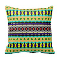 Nice colorful pattern throw pillows