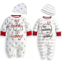 Baby Boy Girl Newborn Romper Hat Sleepsuit Outfit Set Baby Clothing baby boy clothes winter baby winter