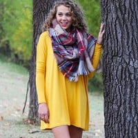 Mustard Piko Tunic Dress