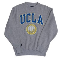 UCLA Bruins Puff Seal Crewneck Sweatshirt - Grey