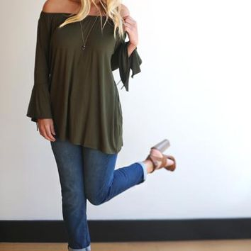 Veronica Off-the-Shoulder Tunic Top - 2 Colors!