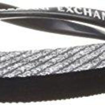 A|X Armani Exchange Womens All Over Logo Flip Flop
