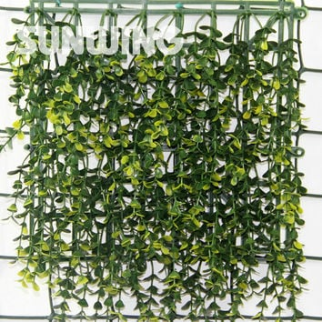 12Pcs 50X50Cm Outdoor Boxwood Hedges Panels Artificial Ivy Fence Decorative Plant Fencing Sgs Uv Pro Plastic Garden Decoration