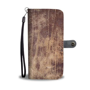 Antique Leather-Like Phone Wallet Case