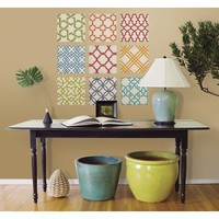Bright Patterns Tile Wall Decals - 9 Piece Set