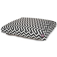 Majestic Pet Rectangle Pet Bed, Black Chevron (Choose Your Color and Size)