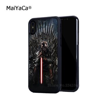 Darth vader star wars soft silicone edge mobile phone cases for apple iPhone x 4s 5c 5s se 6 6s plus 7 7plus 8 8plus cover case