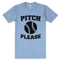 Pitch Please-Unisex Athletic Blue T-Shirt