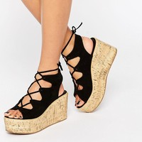 ASOS TORCH Lace Up Wedges
