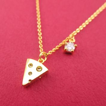 You've Got to Brie Kidding Me. Cheese Wedge Charm Necklace in Gold