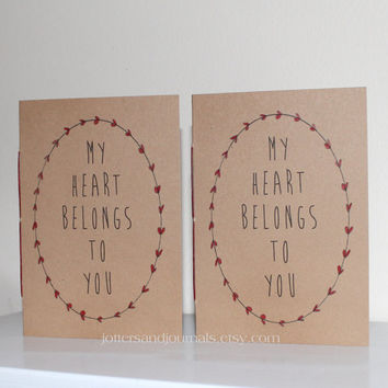 Red Heart Notebooks - My Heart Belongs To You - Vow Books