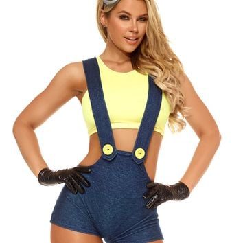 Despicable Me Minion Crop Top & Overalls Costume