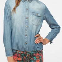BDG Studded Collar Chambray Shirt