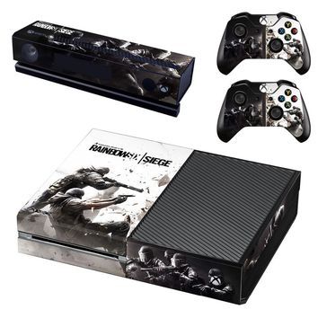 Tom Clancy's Rainbow Six Siege Skin Sticker Decal For Microsoft Xbox One Console and 2 Controllers For Xbox One Skin Sticker