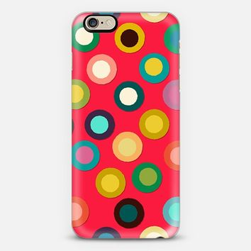 red pop spot iPhone 6 case by Sharon Turner | Casetify