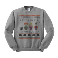 Crewneck - I Put a Spell on You Hocus Pocus - Halloween Sweater Pullover Womens Ladies Outfit Oversized