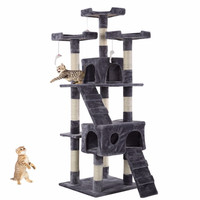 170cm Cat Scratcher Cat Pet Bed Climb Post Tree Toy Activity Center Play Pole PS5793GR