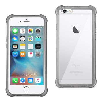 iPhone 6S/ 6 Clear Bumper Case With Air Cushion Protection  (Clear Black)