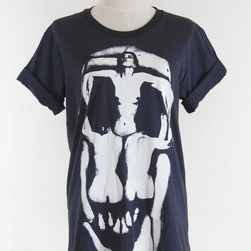 Salvador Dali T-Shirt -- Salvador Dali In Voluptate Mors 1951 Surrealism Skull Shirt Women T-Shirt Men T-Shirt Tee Shirt Black Shirt Size M