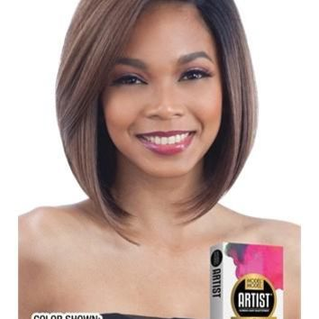 MODEL MODEL HUMAN HAIR BLEND - LACE FRONT- SIDE PART - ARTIST216