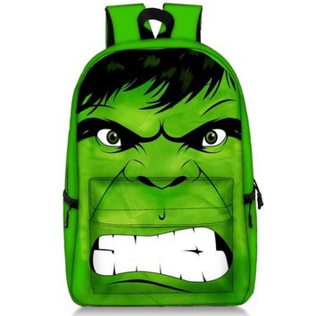 17 Inch The Avengers Batman Hulk Backpacks Children School Bags Backpack for Teenager Girls Book Bag Men Women Knapsack Daypack