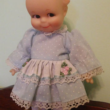 Jesco Kewpie Doll with Blue Dress