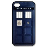TARDIS doctor Iphone 4 4s Case Cover ,Apple Plastic Shell Hard Case Cover Protector Gift Idea diycellphone Store