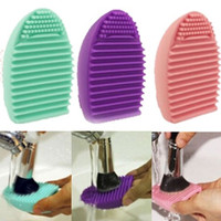 New Cleaning Glove MakeUp Washing Brush Scrubber Board Cosmetic Clean Tool