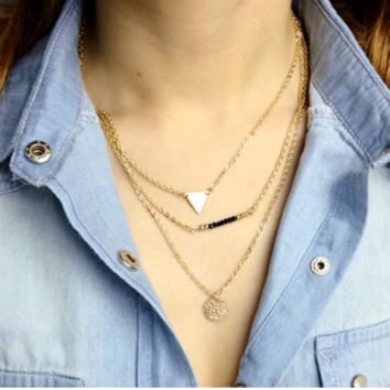 Natalia Gold Layering Necklace