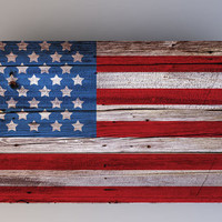 Flag on Wood - Photography Backdrop