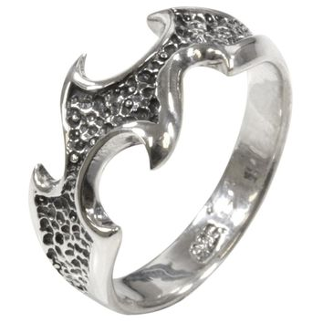 Tribal Wave - Silver Ring