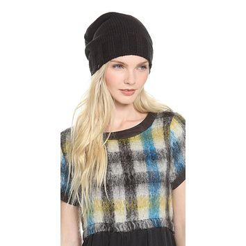 Plush Extra Slouchy Knit Beanie Black