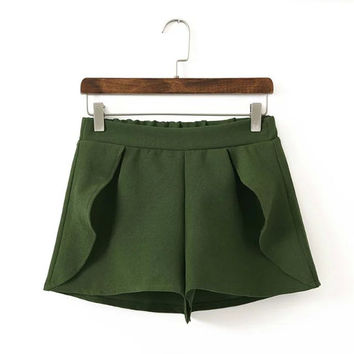 Korean Summer Women's Fashion Ruffle Shorts [4918896388]