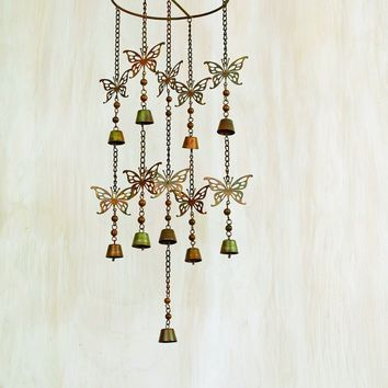 Hanging Butterflies w/Bells Mobile Wind Chime