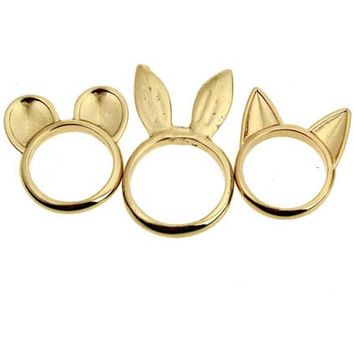 ROMWE | Various Shaped Ears Ring Pack, The Latest Street Fashion