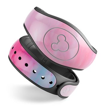 Marbleized Pink Paradise V5 - Decal Skin Wrap Kit for the Disney Magic Band