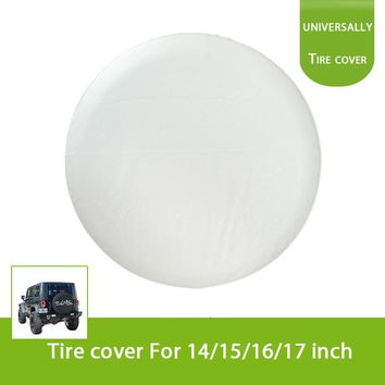 Universal White 14'' 15'' 16'' 17'' 4WD Spare Wheel Tire Cover for Honda Toyota Jeep Suzuki Hummer