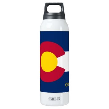 Colorado State Flag 16 Oz Insulated SIGG Thermos Water Bottle